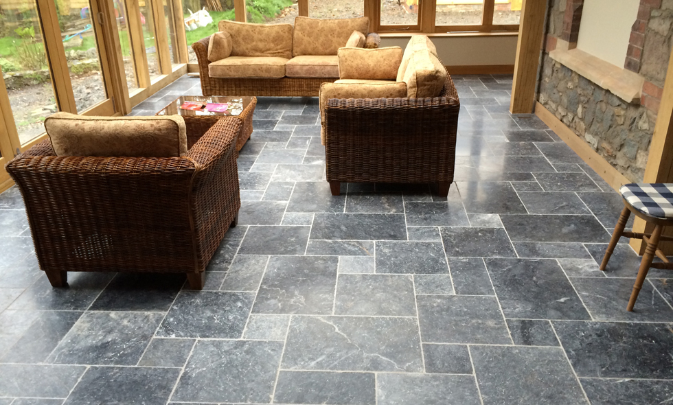 Tumbled Marble Flooring in Shepshed